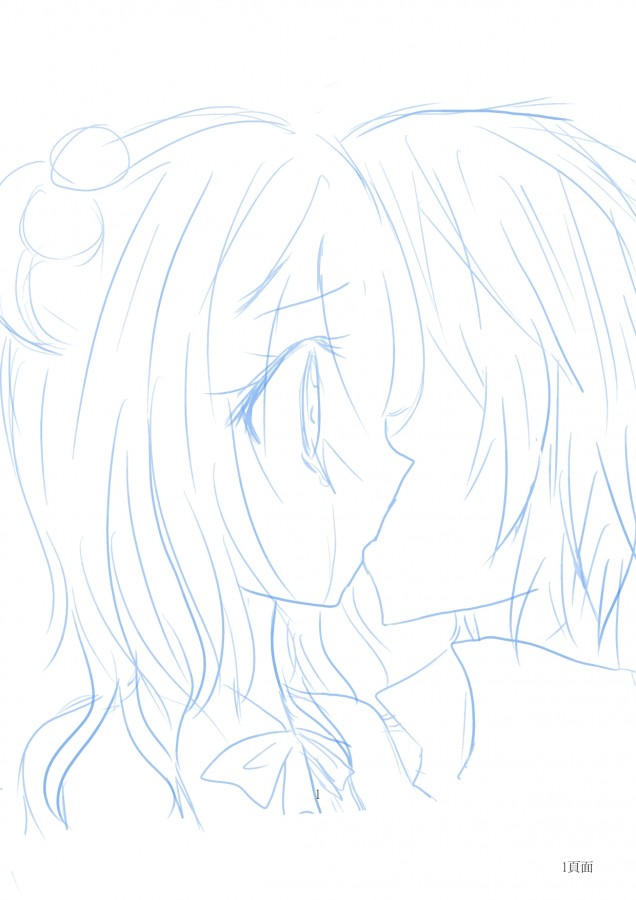 第一次画接吻.丑死了