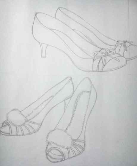画的鞋子的图案