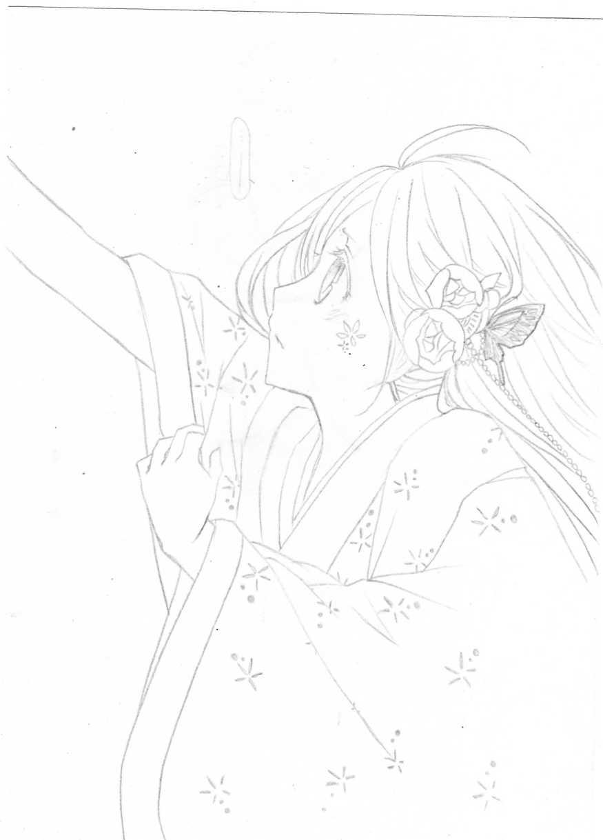 公主侧面简笔画