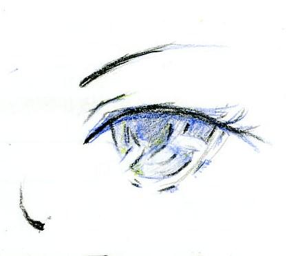 铅笔画动漫少女眼睛