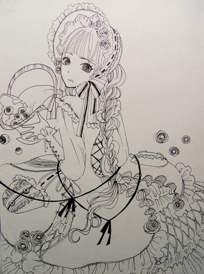 素描芒果的画法步骤图